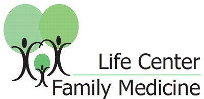 Logo with a family of green-afro trees
